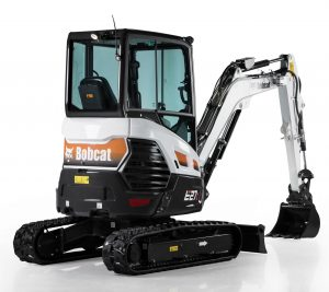 bobcat excavator e27z grading bucket construction