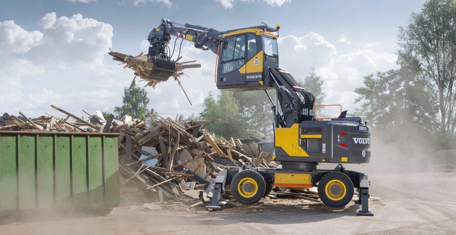 volvo wheel excavator ew106e construction agriculture machinery