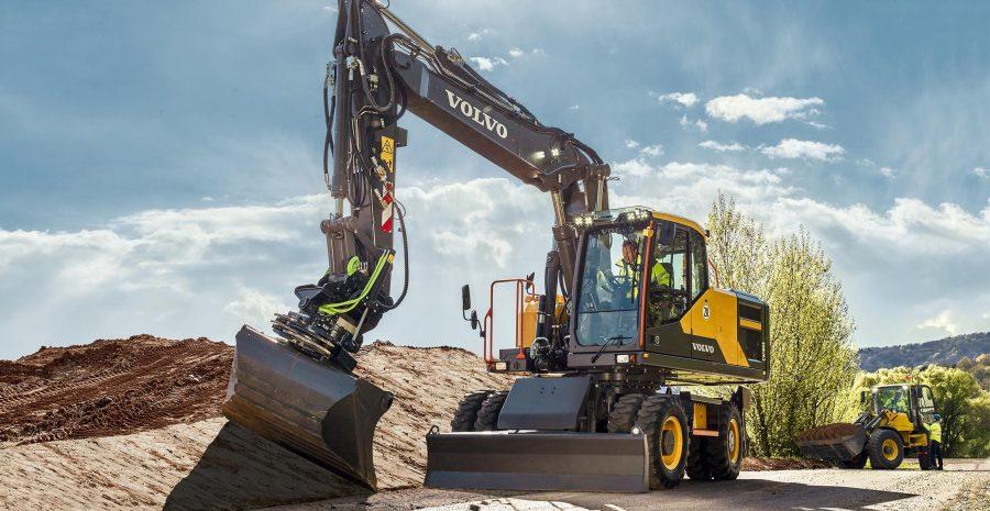 volvo wheel excavator eW220E construction agriculture machinery