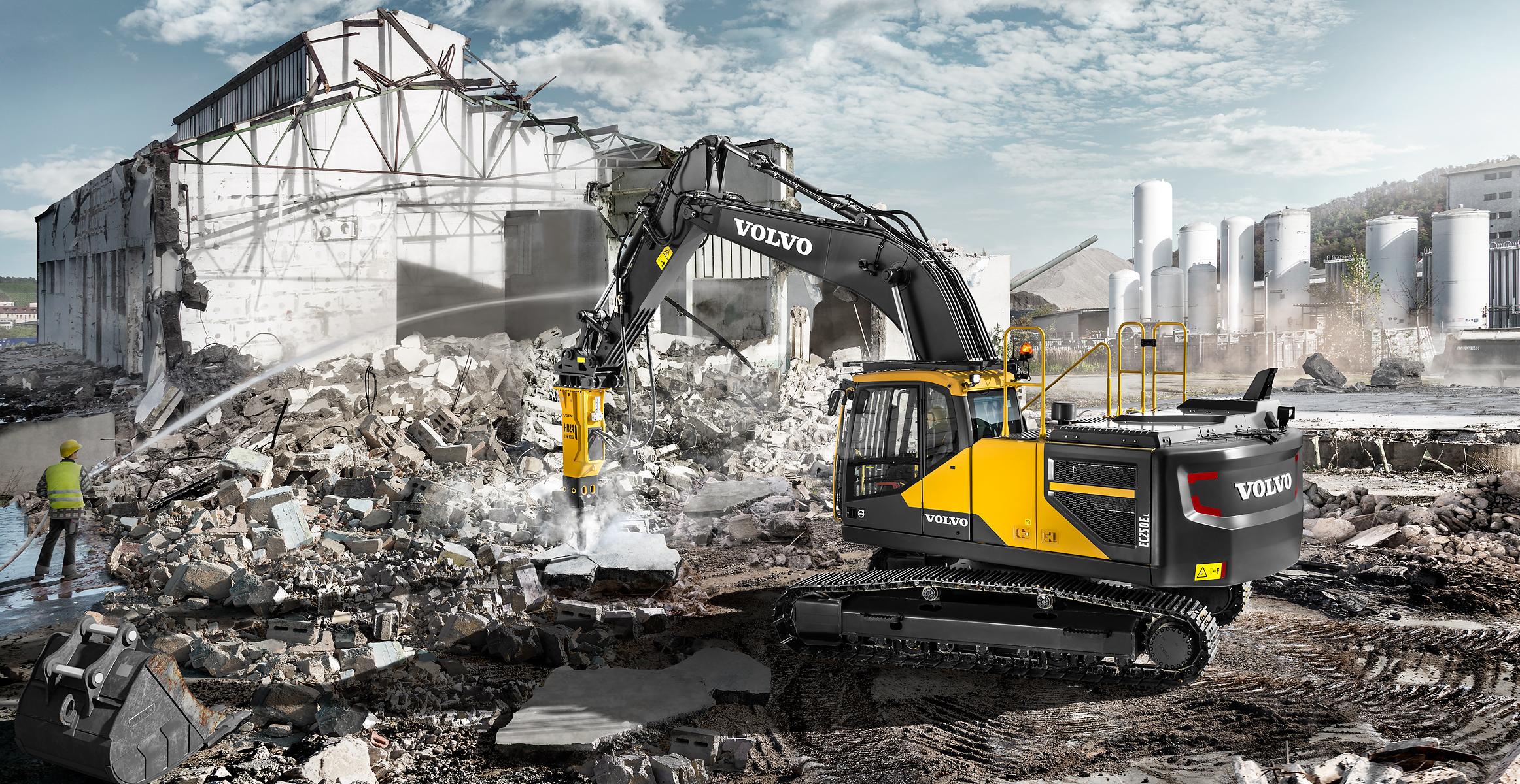 volvo wheel excavator EC250E construction agriculture machinery
