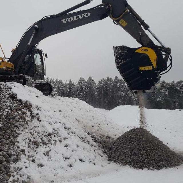 Volvo MB Crusher Manufacturer BucketBF90.3 Demolitions Recycling Quarries Mines Roadworks Tunnels Backhoe Loader Mini Excavator